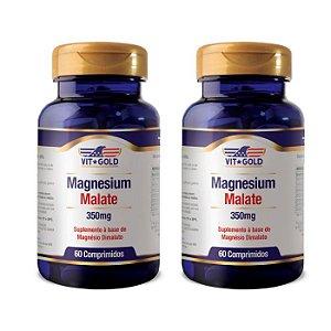 Magnésio Dimalato - 2 unidades de 60 Comprimidos - VitGold