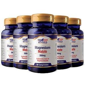 Magnésio Dimalato - 5 unidades de 60 Comprimidos - VitGold