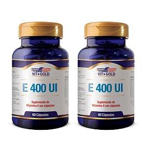 Vitamina E 400 UI - 2 unidades de 60 Cápsulas - VitGold