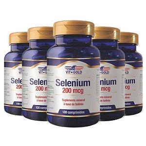 Selênio 200mcg - 5 unidades de 100 Comprimidos - VitGold