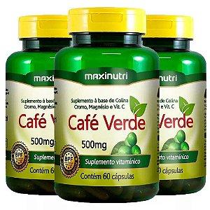 Café Verde - 3 unidades de 60 cápsulas - Maxinutri