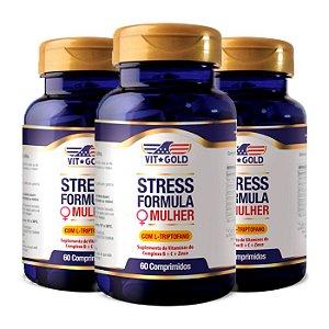 Stress Formula Mulher - 3 unidades de 60 Comprimidos - VitGold