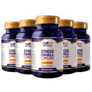 Stress Formula Mulher - 5 unidades de 60 Comprimidos - VitGold