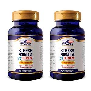 Stress Formula Homem - 2 unidades de 60 Comprimidos - VitGold
