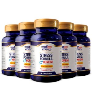 Stress Formula Homem - 5 unidades de 60 Comprimidos - VitGold