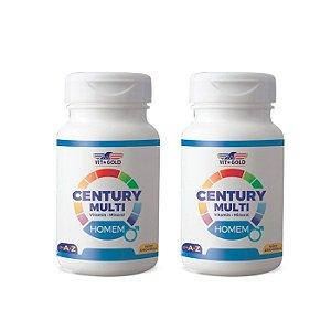 Multivitamínico Century Homem - 2 unidades de 90 Comprimidos - VitGold