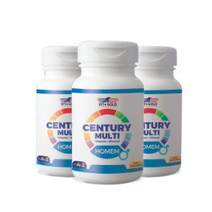 Multivitamínico Century Homem - 3 unidades de 90 Comprimidos - VitGold