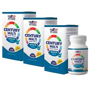 Multivitamínico Century Senior Homem - 3 unidades de 60 Comprimidos - VitGold
