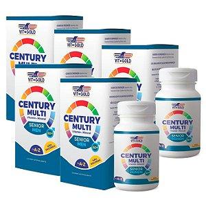 Multivitamínico Century Senior Homem - 5 unidades de 60 Comprimidos - VitGold