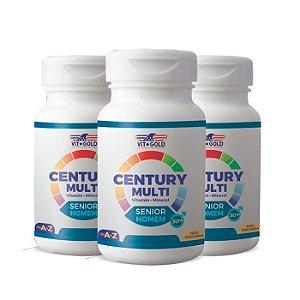 Multivitamínico Century Senior Homem - 3 unidades de 90 Comprimidos - VitGold