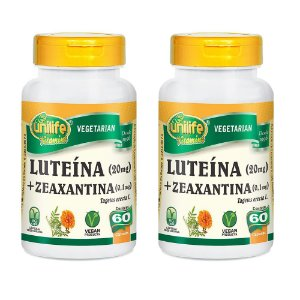 Luteína e Zeanxantina - 2 unidades de 60 Cápsulas - Unilife