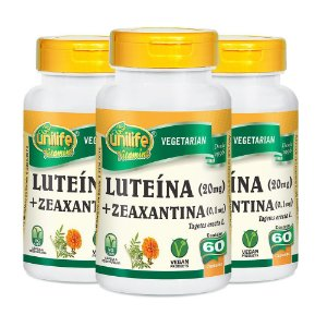 Luteína e Zeanxantina - 3 unidades de 60 Cápsulas - Unilife