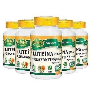 Luteína e Zeanxantina - 5 unidades de 60 Cápsulas - Unilife