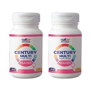 Multivitamínico Century Mulher - 2 unidades de 90 Comprimidos - VitGold