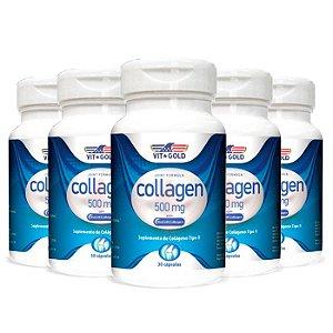 Colágeno Tipo II - 5 unidades de 30 Cápsulas - VitGold