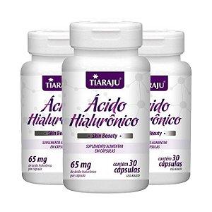 Ácido Hialurônico - 3 unidades de 30 Cápsulas - Tiaraju