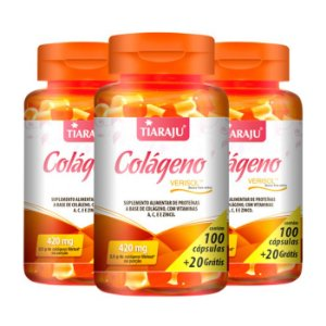 Colágeno Verisol - 3 unidades de 100 Cápsulas - Tiaraju
