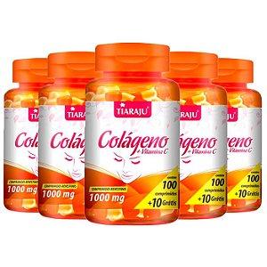 Colágeno com Vitamina C 1000mg - 5 unidades de 100 Comprimidos - Tiaraju