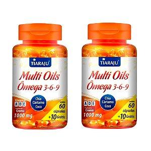 Kit Multi Oils Tiaraju Ômega 3-6-9 Suplemento 120 Cápsulas