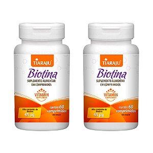 Biotina 45mcg - 2 unidades de 60 Comprimidos - Tiaraju