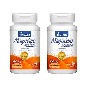 Magnésio Malato - 2 unidades de 60 Cápsulas - Tiaraju