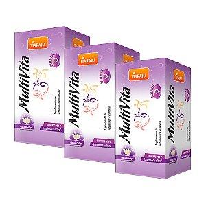 MultiVita Mulher - 3 unidades de 60 Cápsulas - Tiaraju