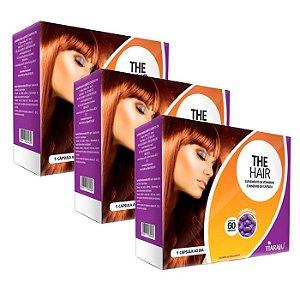 The Hair - 3 unidades de 60 Cápsulas - Tiaraju