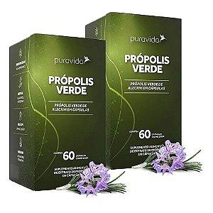 Própolis Verde - 2 unidades de 60 Cápsulas - Puravida