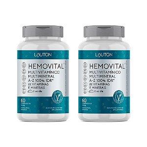 Multivitamínico Hemovital - 2 unidades de 60 Comprimidos - Lauton