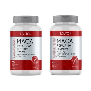 Maca Peruana Premium com Vitaminas - 2 unidades de 60 Cápsulas - Lauton
