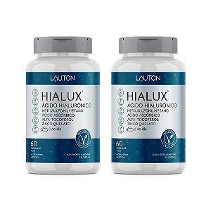 Hialux Ácido Hialurônico - 2 unidades de 60 Cápsulas - Lauton