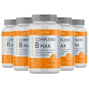 Kit Complexo B Max Vitamina C e Zinco Lauton 300 Cápsulas