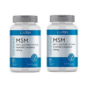 Kit MSM Enxofre Orgânico Lauton Anti-inflamatório 120 Cáps