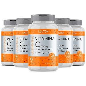 Vitamina C com Zinco - 5 unidades de 60 Cápsulas - Lauton