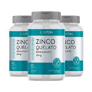 Zinco - 3 unidades de 60 Cápsulas - Lauton