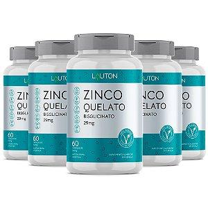 Zinco - 5 unidades de 60 Cápsulas - Lauton