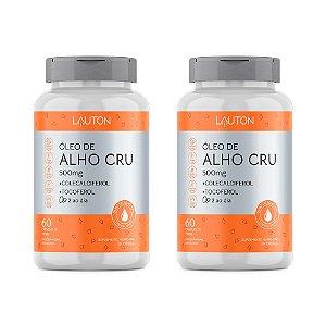 Óleo de Alho Cru com Vitaminas - 2 unidades de 60 Cápsulas - Lauton