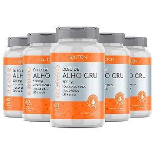 Óleo de Alho Cru com Vitaminas - 5 unidades de 60 Cápsulas - Lauton