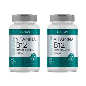KitVitamina B12 Metilcobalamina 9,5mg Lauton 120 Cápsulas