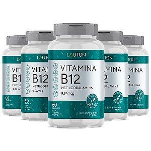 Vitamina B12 Metilcobalamina - 5 unidades de 60 Cápsulas - Lauton