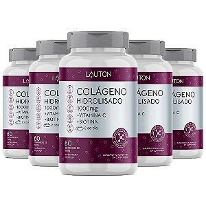 Colágeno com Vitamina C e Biotina - 5 unidades de 60 Comprimidos - Lauton