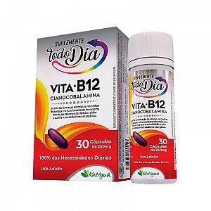 Vitamina B12 Cianocobalamina - 30 Cápsulas - Katiguá STD