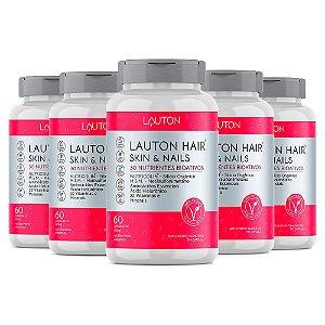 Hair Skin & Nails - 5 unidades de 60 Cápsulas - Lauton