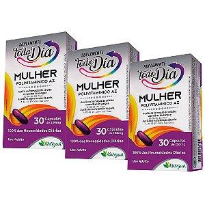 Kit Polivitamínico A-Z Mulher Katiguá STD Suplemento 90 Cáps