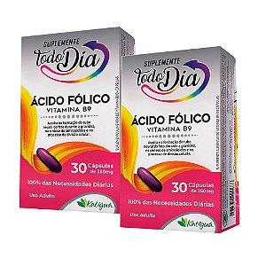 Vitamina B9 Ácido Fólico - 2 unidades de 30 Cápsulas - Katiguá