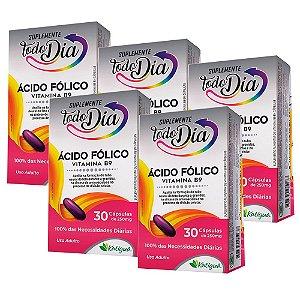 Vitamina B9 Ácido Fólico - 5 unidades de 30 Cápsulas - Katiguá