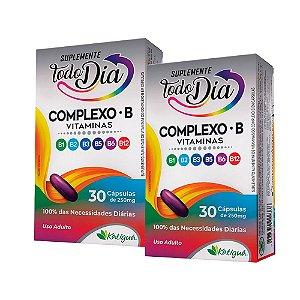 Vitaminas do Complexo B - 2 unidades de 30 Cápsulas - Katiguá