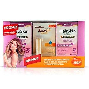 Combo Beleza 2 Hair Skin Supreme + Protetor Labial - Maxinutri
