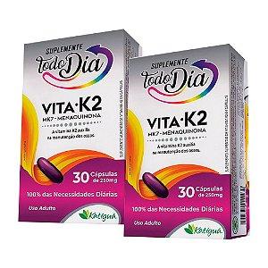 KitVitamina K2 MK-7 Menaquinona Katiguá STD 60 Cápsulas