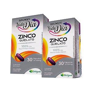 Zinco Quelato - 2 unidades de 30 Cápsulas - Katiguá